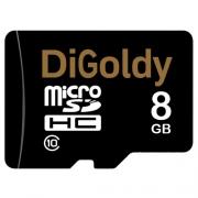 карта памяти microsd 8 gb DiGoldy class 10 без  адаптера.