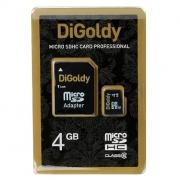 Карта памяти microSD + адаптер DiGoldy 4 GB