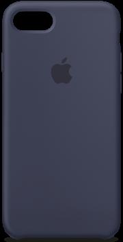 Силиконовая крышка iphone  7+ синяя