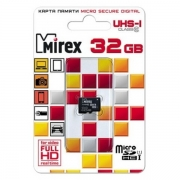 карта памяти microsd 32 gb Mirex class 10 без адаптера