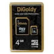 карта памяти microsd 4 gb DiGoldy class 10 без адаптера