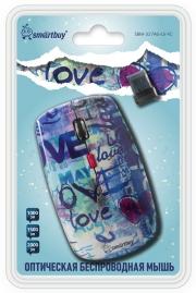 Мышь беспроводная Smart Buy 327AG, принт love