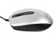 Мышь CBR CM-117, серебро, проводная