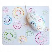 проводная мышь сувенирная+коврик CBR Rainbow