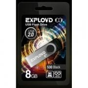 Флеш-накопитель USB  8GB  Exployd 570 чёрный