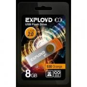 Флеш-накопитель USB  8GB  Exployd 570 оранжевый