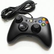 джойстик для Xbox 360 (ИксБокс 360) черный, проводной, не оригинал