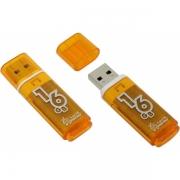 Флеш-накопитель USB  16GB  Smart Buy  Glossy  оранжевый