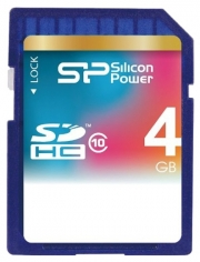 карта памяти  Silicon Power sdhc 4gb class 6