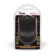 Мышь MIREX MWM001BK, беспроводная, черная, 3кн., USB.