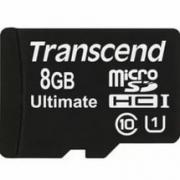 Карта памяти MicroSD  8GB  Transcend Class 10 UHS-I 300x без адаптера