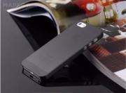 Чехол накладка силиконовая  iPhone 7 жесткий матовый черный LM