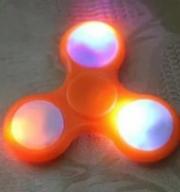 Spinner ( Спиннер ) светящийся антистресс оранжевый