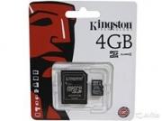 usb карта памяти microsd  kingston  4 gb