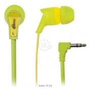 наушники  ritmix (ритмикс) rh-013 зелено желтые