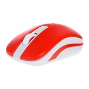 Проводная мышь oxion (оксион) omsW009RD Красно-белая