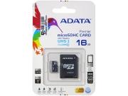 Micro sd карта 16 gb A-Data class 10 с адаптером