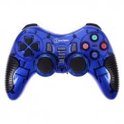 Беспроводной геймпад Oxion OGPW03BK с вибрацией синий