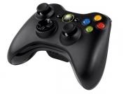 джойстик для Xbox 360 (ИксБокс 360) черный, беспроводной, оригинал