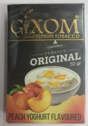 табак для кальяна Gixom ( гиксом ) Peach Yoghurt flavoured  (Персик и йогурт ) 50 ГР.