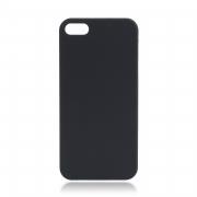 чехол софт тач iPhone 5 4D (черный)