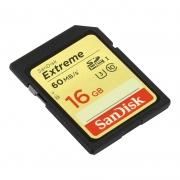 карта памяти SDHC 16 gb SanDisk class 10 Extreme UHS-I U3
