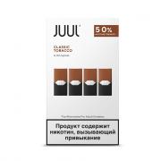 картриджи Juul 4-juul pod картриджа с никотиносодержащей жидкостью со вкусом табака