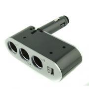 разветвитель 12/24 в 3 гнезда + USB WF 0100