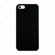 чехол накладка пластиковая  iPhone  SE / 5s / 5c / 5 матовая без логотипа черная Пуск