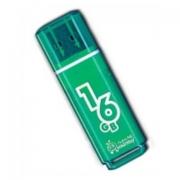 Флеш-накопитель USB  16GB  Smart Buy  Glossy  зелёный