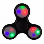 Spinner ( Спиннер ) светящийся антистресс черный