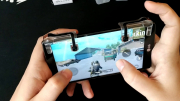 Триггер для смартфона для  игры (пубг) Pubg L1R1 Мех. однокнопочные (прозрачные)