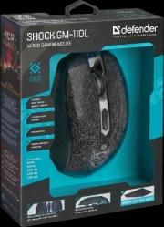 Мышь DEFENDER Shock GM-110L, USB, проводная