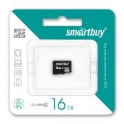 карта памяти microsd 16gb Smartbuy Class 10  без адаптера