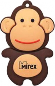 Флеш-накопитель USB  4GB  Mirex  MONKEY BROWN  (ecopack)