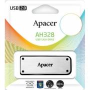 Флеш-накопитель USB 16 gb Apacer AH328 серебро металл