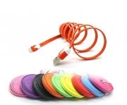 кабель iphone 5 цветная лапша 3 метра