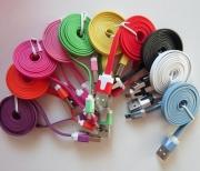 кабель iphone 5 лапша двухцветная