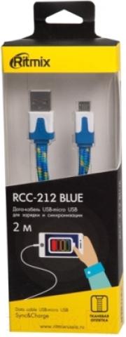 Кабель RITMIX RCC-212, голубой