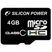 карта памяти microsd 4 gb silicon power class 10, без адаптерa