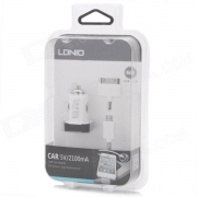 зарядка ldnio car charger 5v/2100 mah белый