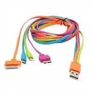 кабель iphone 4 ( айфон 4 ) цветная лапша
