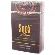 Безникотиновая смесь для кальяна Soex Чоко фьюжн 50гр (10шт в блк)