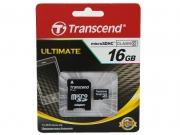 MicroSD 16GB Transcend class 10  без адаптера