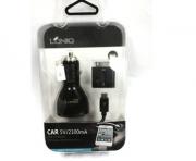 зарядка ldnio car charger 5v/2100 mah