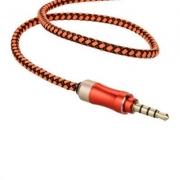 Кабель AUX 3.5 mm Deepbass ( плетёный оранжевый)