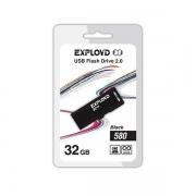 Флеш-накопитель USB  32GB  Exployd  580  чёрный