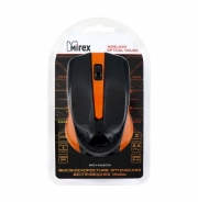 Мышь беспроводная MIREX W3030ORN черная/оранжевая