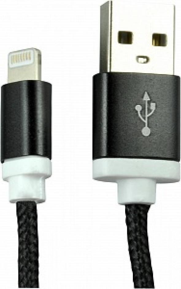 Кабель iphone 5 RITMIX RCC-321, черный