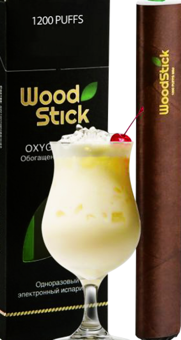 Одноразовая электронная сигарета  WoodStick 800/ пина колада  11 мг.